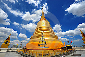 Thailand Landmark Golden Mount (wat Sraket)  B Royalty Free Stock Photography - Image: 15143517