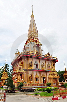 Chalong Temple In Thailand Royalty Free Stock Images - Image: 15143779