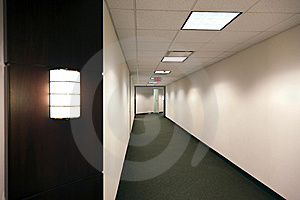 Empty Office Building Hallway Royalty Free Stock Image - Image: 15143936