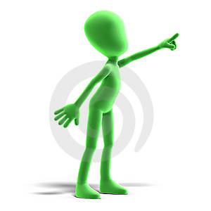 Symbolic 3d Male Toon Character Show Us The Stock Photography - Image: 15143972