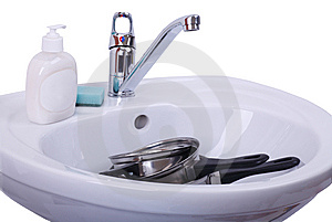 Wash Dirty Dishes Stock Photos - Image: 15144063