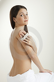 Beauty With Massager Stock Images - Image: 15145584