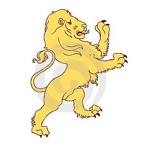 Yellow Lion Stock Images - Image: 15145954