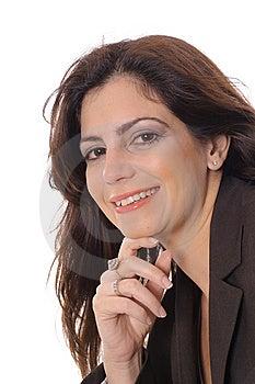 Closeup Of Business Woman Vertical Stock Image - Image: 15146621