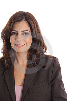 Business Woman On White Vertical Royalty Free Stock Photography - Image: 15146637