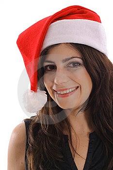 Santa Woman Headshot Stock Images - Image: 15146684