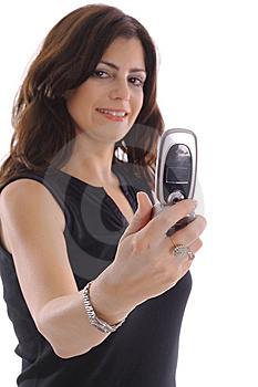 Woman Taking Photo With Camera Phone Stock Photo - Image: 15146700