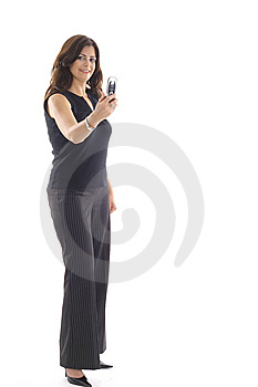 Woman Taking Photo With Camera Phone Vertical Royalty Free Stock Photos - Image: 15146708