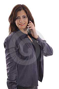 Woman Taking Call On Cell Phone Vertical Royalty Free Stock Photography - Image: 15146717