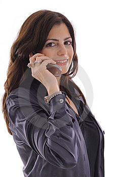 Woman Taking Call On Cell Phone Stock Photography - Image: 15146722