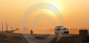 Dusty Highway Stock Photos - Image: 15147123