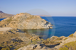 Cliffs Above The Azure-blue Sea On Islands Royalty Free Stock Photography - Image: 15147187
