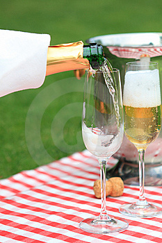 Champagne In Glasses Royalty Free Stock Images - Image: 15148079
