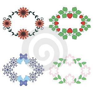Four Decor Elements Royalty Free Stock Image - Image: 15148266