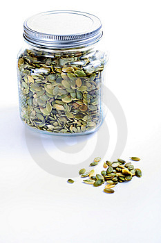 Pepitas In A Jar Stock Photo - Image: 15148780