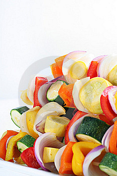 Vegetables Skewers Angle Royalty Free Stock Photo - Image: 15148815