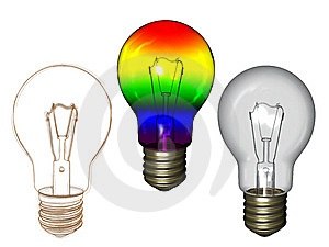 Bulb With Sketch Royalty Free Stock Photography - Image: 15150697