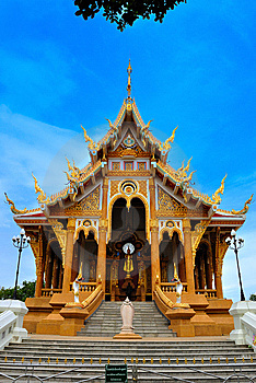 Thai Temple In  Khonkane Province Royalty Free Stock Photography - Image: 15151347