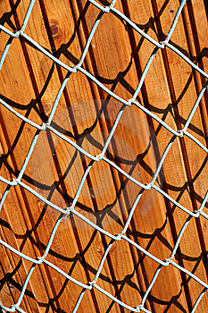 Wooden Panels Behind A Lattice Royalty Free Stock Photography - Image: 15152937