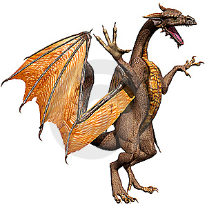 Olden Dragon Attacking 2 Royalty Free Stock Photography - Image: 15155597