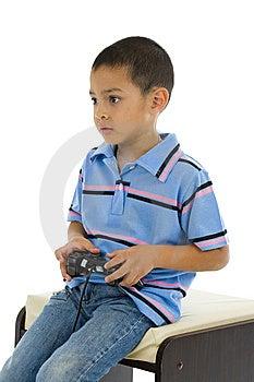 Preschooler With Joystick Stock Photo - Image: 15155930