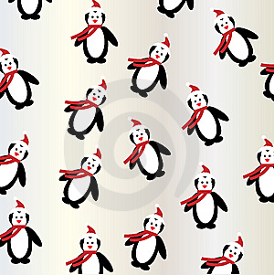 Penguin Christmas Background Seamless Stock Photos - Image: 15156373