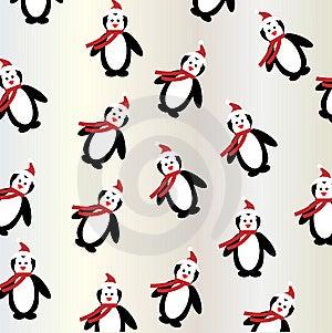Penguin Christmas Background Seamless Stock Photos - Image: 15156373