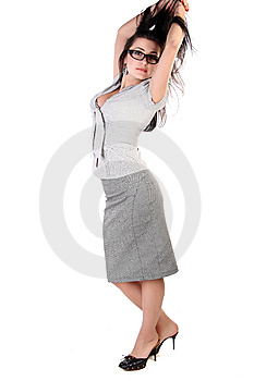 Positive Business Woman Royalty Free Stock Photography - Image: 15158767