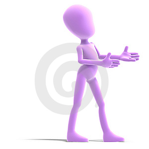 Symbolic 3d Male Toon Character Show Us The Royalty Free Stock Photo - Image: 15159505