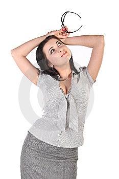 Positive Business Woman Stock Photo - Image: 15159620