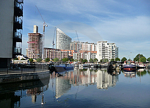Docklands Reflected View Royalty Free Stock Photos - Image: 15161498