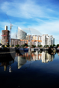 Docklands Reflected View Stock Image - Image: 15161511