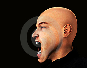 Very Angry Man Side Profile Stock Photos - Image: 15161943