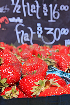 Baskets Of Ripe Strawberries Royalty Free Stock Photos - Image: 15161968