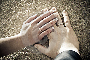 Hands Of The Newly-weds Stock Photography - Image: 15163102