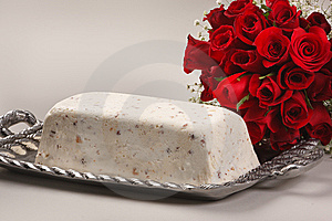 Cake / Dessert With Flowers Stock Images - Image: 15163424