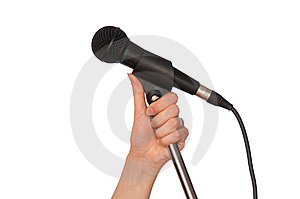 Black Microphone Stock Images - Image: 15163434