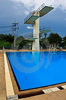 Jumping Swimming Pool Stock Photography - Image: 15164292