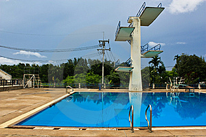 Jumping Swimming Pool Stock Photography - Image: 15164322