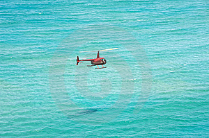Helicopter Over The Ocean Stock Images - Image: 15164724