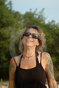 Happy Tattoo Woman Stock Photography - Image: 15165452