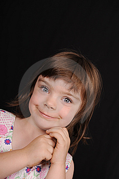 Portrait Of A Young Female Child Royalty Free Stock Photo - Image: 15166255