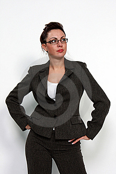 Business Woman With Eyeglasses Stock Image - Image: 15167921