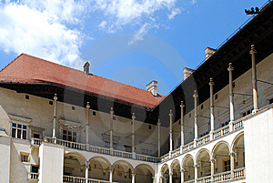 Renaissance Arcades. Wawel Royal Castle In Cracow Royalty Free Stock Images - Image: 15175279