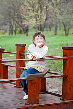 Little Girl In The Park Royalty Free Stock Images - Image: 15175779