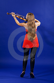Young Woman Playing Violin Royalty Free Stock Photography - Image: 15175887