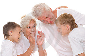 Family On A White Royalty Free Stock Images - Image: 15179729