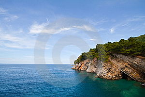 Pictorial Blue Adriatic Sea With Rocks Stock Photos - Image: 15180243