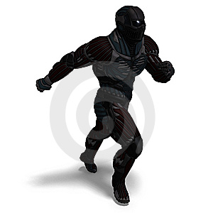 Science Fiction Male Character In Futuristic Suit Stock Photos - Image: 15181633