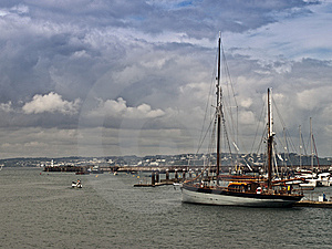 Yacht In Harbour And Sea View Stock Photography - Image: 15182132
